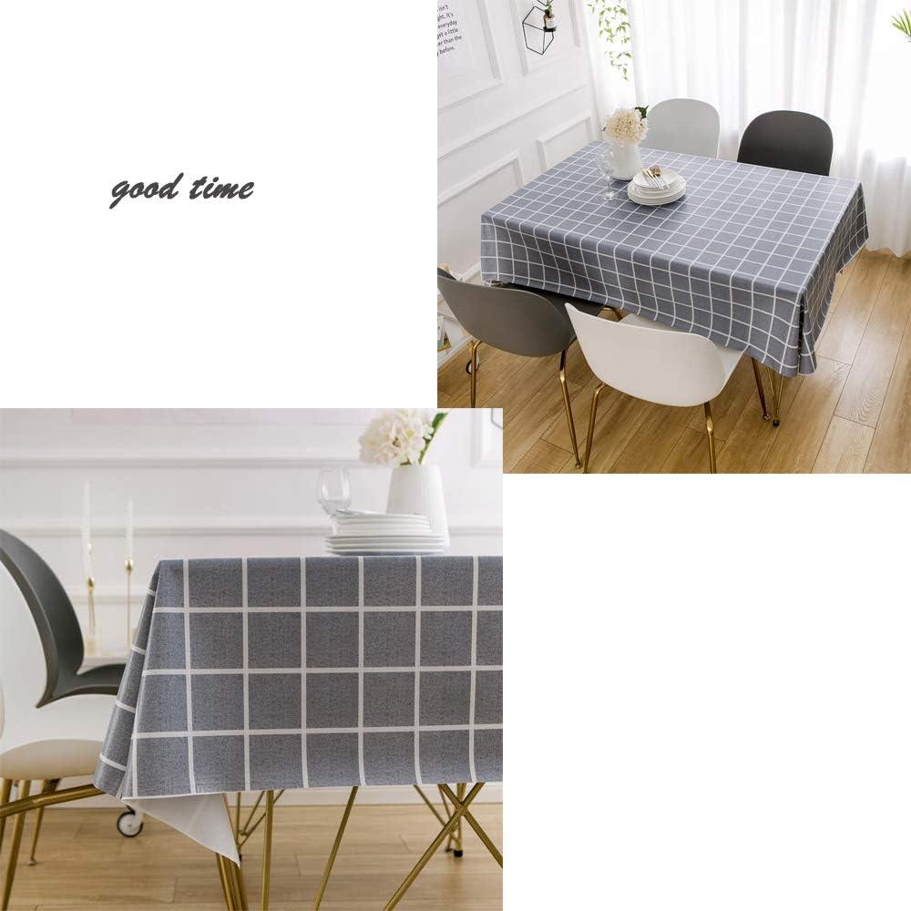 Exterior o Interior,F/ácil Limpieza 140 x 180 cm Para Cocina Rectangular Jard/ín Mantel de PVC con Clips Impermeable