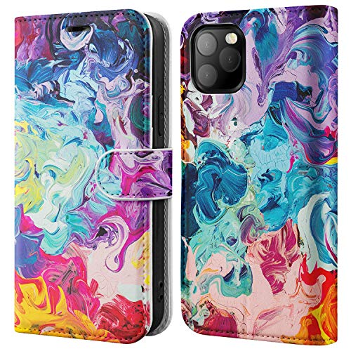 """BEMAL for iPhone 12 Wallet Case,iPhone 12 Pro Flip Case,RFID Blocking Credit Card Holder,Folio PU Leather Cover with Fashionable Designs Phone Case for iPhone 12/12 Pro 6.1"""" Colorful Opal Marble"""