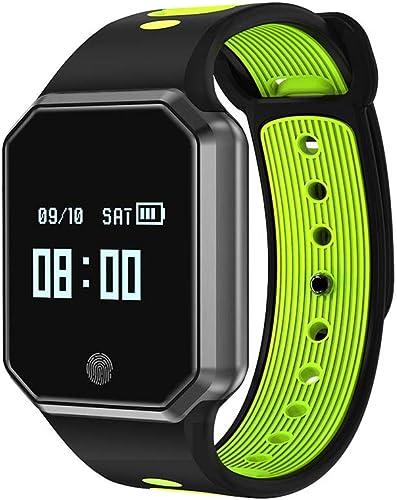 LJSHU Hommes et Femmes bleutooth intelligent regarder Couleur écran IP68 étanche Fréquence voiturediaque Surveillance de la Pression Artérielle Multi-Fonction Sport Bracelet