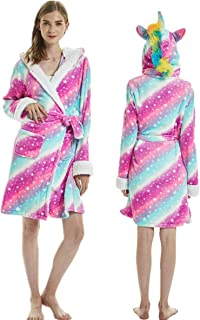 A2Z 4 Kids Bambini Ragazze Ragazzi Accappatoio novit/à 3D Arcobaleno Nuovo Animale Morbido Corto Cappucciato Vello Unicorno Cosplay Accappatoio Abito Vestaglia Night Loungewear et/à 2-13 Anni