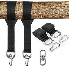 KAILH Set Colgante Swing, Correas de sujeción Cinturón Accesorios de Hamaca con Ganchos, Cuerdas Multifunciones Suspensión, Puede soportar Peso 1000kg, para Hamacas, Columpios, Yoga