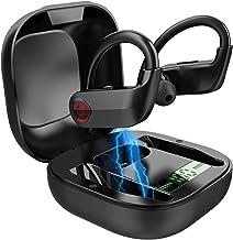 True Wireless Earbuds, Bluetooth 5.0 Wireless Headphones Deep Bass Stereo Sound Noise Cancelling Sweatproof TWS Bluetooth ...