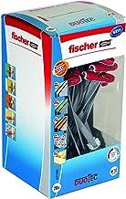 fischer 537260 Cavity Fixing, Red/Grey, DUOTEC 10, Set of 20 Pieces