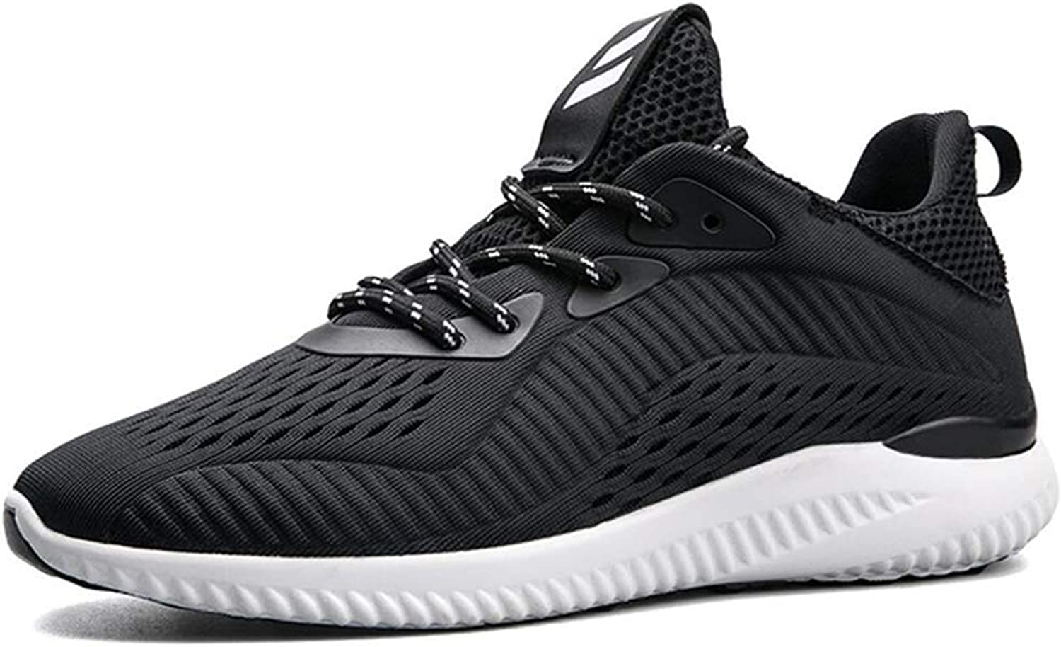Outdoor Sneakers for Mens Flying Woven shoes Casual Sneakers Men's Outdoor Running Mesh Cloth Comfortable and Breathable (color   Black, Size   44)