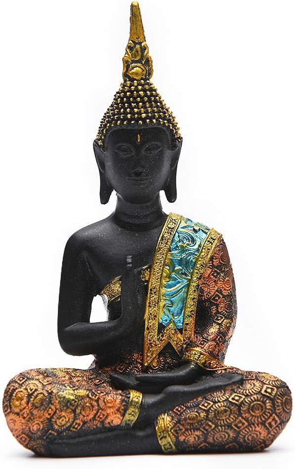 Resin Thai Sitting Buddha Max 86% OFF Asian Statue Sculptu Ranking TOP16 Chinese Feng Shui