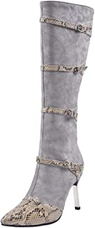 MisaKinsa Women Fashion High Boots Pointed Toe Stiletto High Heels