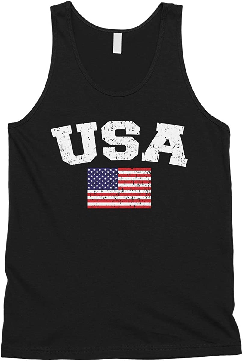 Louisville-Jefferson County Mall Cybertela Men's Faded Distressed Top Max 53% OFF Tank Flag USA