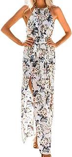 فستان الصيف للنساء خمر مثير بوهيمي الزهور تونك شاطئ فستان الشمس المرأة اللباس الطويل الإناث
