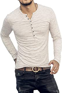 AITFINEISM Men's Casual Slim Fit Basic Henley Long Sleeve T-Shirt