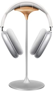 Soporte Auriculares, Soporte de Haya y Aluminio, Stand para Headset de Juego, Adecuado para AirPods MAX, Beats, Bose, Senn...
