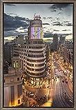 Cuadro enmarcado - Cuadro del Edificio Carrión (Schwepps) de la Gran Vía de Madrid - Fotografía artística y moderna de alta calidad - Listo para colgar - Hecho a mano en España (40_x_60_cm)