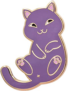 Playful Cat Enamel Pin - Cute & Funny Cat Lapel Pin in for Jackets, Backpacks, Tops, Bags & Hats