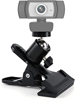 Bespoken Webcam Stand, Clamp Mount for Ring Light Camera Phone Webcam, Desk Clip Holder with Clamp, Table Mount with 1/4 B...