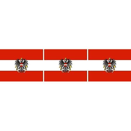 Etaia 2 5x4 Cm 3x Mini Aufkleber Fahne Flagge Von Österreich Mit Wappen Adler Kleine Europa Länder Sticker Auto Motorrad Fahrrad Bike Auch Für Dampfer E Zigarette Sisha Auto