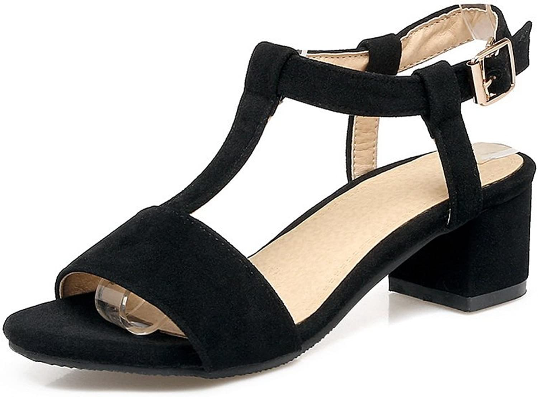 BalaMasa Womens Sandals Peep-Toe Kitten-Heel Urethane Sandals ASL04739