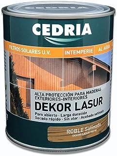 Lasur protector madera exterior al agua Cedria Dekor Lasur 750 ml (Roble)