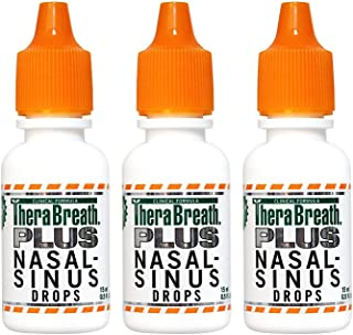 TheraBreath Plus Nasal-Sinus Drops, 0.5 Ounce Bottle (Pack of 3)
