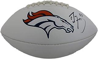 Ed McCaffrey Autographed/Signed Denver Broncos White Logo Football