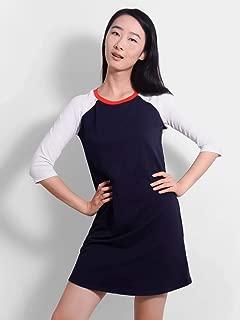 Navy Frolic Raglan Dress