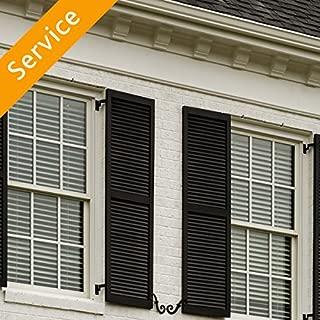 Exterior Decorative Window Shutter Installation