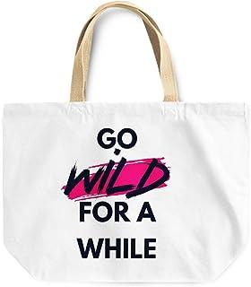 Loud Universe Go Wild For A While Fun Reusable Tote Bag, 30 x 30 x 10 cm, Multicolor