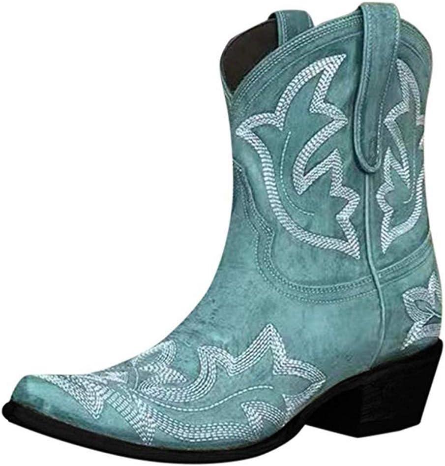 Women's Vintage Wide Calf Cowboy Boots