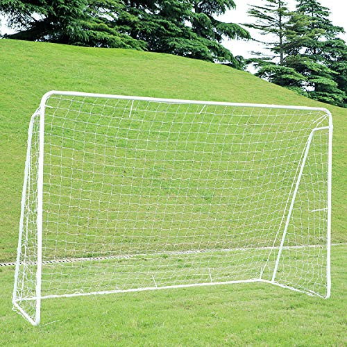ORIENTOOLS Portable Football Goal Football Net with Locking System Weatherproof Football Goal Post Net for Kids and Adults IndoorOutdoor Football Equipment with PE Net and Pegs 10 x 65 FT