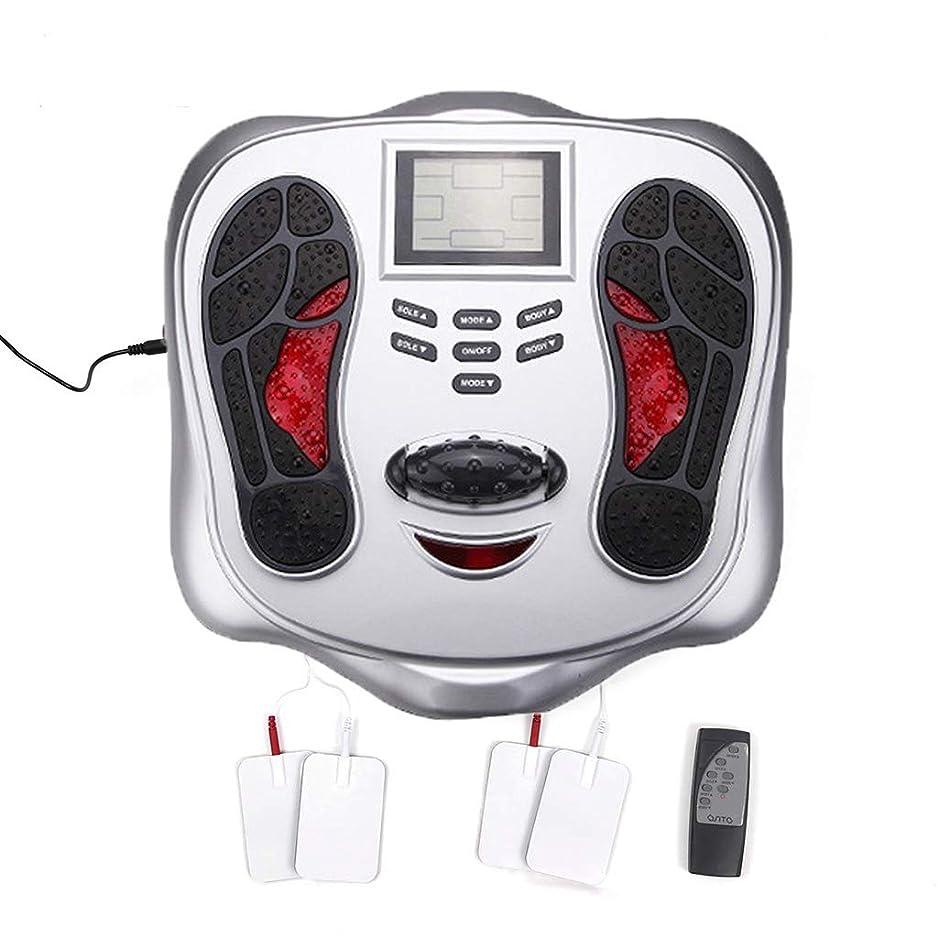 年金小康無能電磁フットマッサージャー&ボディセラピーマシン-25マッサージモード、4体電極パッド、リモートコントロール、血液循環を改善