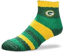 For Bare Feet - NFL Rainbow Stripe Fuzzy Sleep Soft Socks - On Size Fits Most