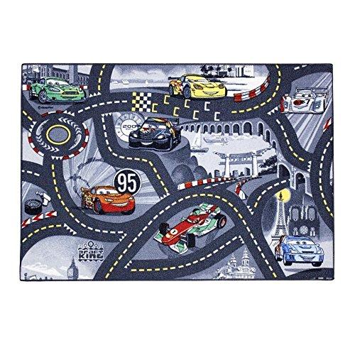 GUIZMAX Compatible avec Tapis Enfant Cars 133 x 95 cm Disney Grey