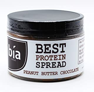 Bia Bar, High Protein Peanut Butter Spread, Gluten Free, Protein Nut Butter, No Artificial Flavors, Protein Snack (Peanut Butter Chocolate)