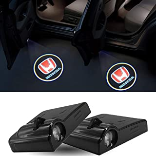 LONGSNOL 2pcs Car Door Lights for Honda Wireless LED Logo Door Light Projector Welcome Courtesy Light Shadow Laser Logo Pr...
