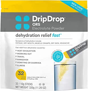 DripDrop ORS - Electrolyte Powder For Dehydration Relief Fast - For Workout, Hangover, Illness, & Travel Recovery - - 32 x...