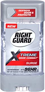 Right Guard Xtreme Odor Combat Surge Antiperspirant Gel 4 Ounce (2 Pack)