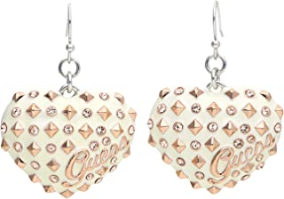 Guess Women's Heart-Shaped Drop Earrings [UBE11215]