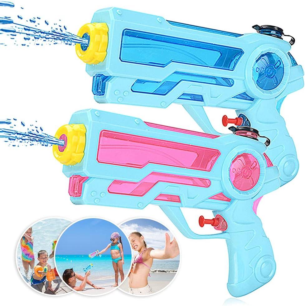 Zaloife Pistola de Agua Juguete de los Niños, Water Pistol 350ml para Batalla Jardín Juguete Rociador Fiestas de Verano al Aire Libre Infantil Batalla de Agua, Playa, Piscina, 2 Pack