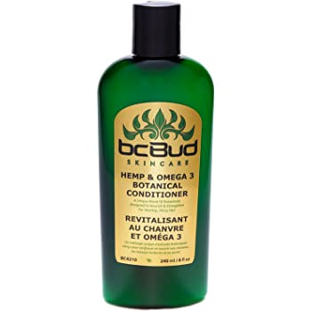 Hemp and Omega 3 Conditioner, for Damaged Hair, Frizzy Hair, Thinning Hair, Volume, Sulfate Free (Single)