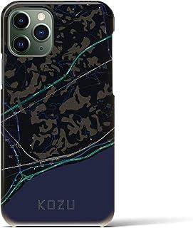 クロスフィールド(Crossfield)【国府津】地図柄iPhoneケース(バックカバータイプ・ブラック)iPhone 11 Pro 用