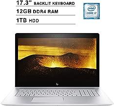2019 Newest HP Envy 17.3 Inch FHD Laptop (Intel Quad-Core i7-8550U up to 4GHz, 12GB DDR4 RAM, 1TB HDD, NVIDIA MX150 4GB, Backlit Keyboard, DVD, WiFi, Bluetooth, HDMI, Windows 10) (Renewed)