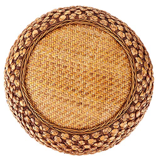 Oumefar Knitted Floor Cushion Cushion Seats Japanese‑Style Round Household Coffee Color for Balcony for Living Room