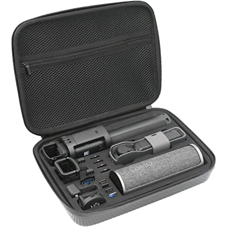 MOVKZACV Carrying Case for DJI Osmo Pocket 2 with Hand Strap Portable Lightweight Protective Hard Case Waterproof Shockproof