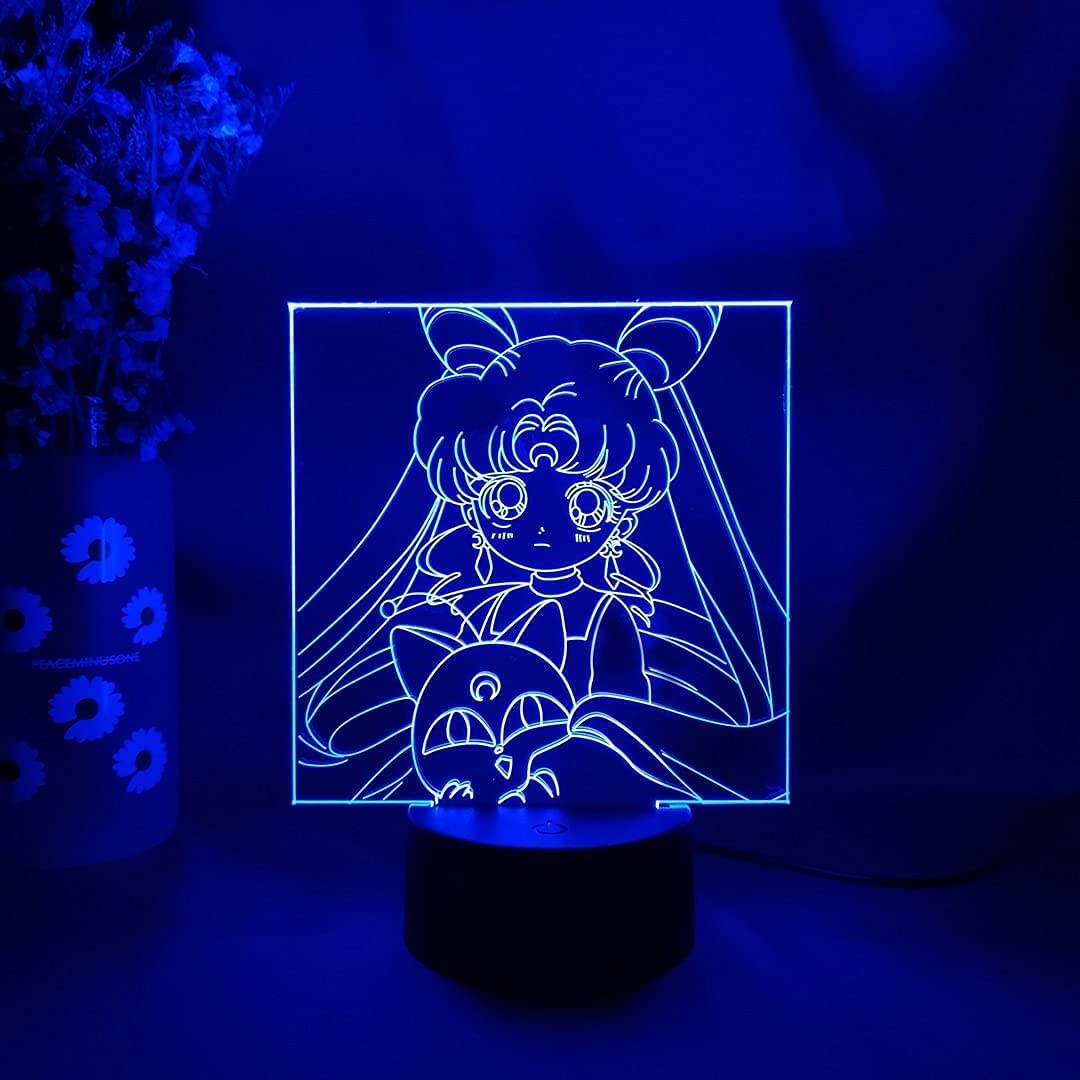 Skjfdmiy 3D Colorful LED Night Light V Today's only Sailor Moon Direct store Chibiusa