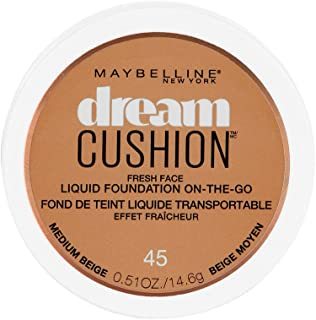 Maybelline New York Dream Cushion Fresh Face Liquid Foundation, Medium Beige, 0.51 Ounce