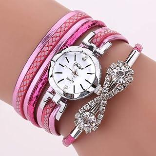 Wristband Women's Wrist Watches Ladies Series Girls Watch Female for Women Thin Belt 8 Word Circle Ladies Table,Colour Nam...