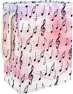 Yuzheng Notes de Musique en mosaïque Poubelle d'organisateur de Stockage de Panier à Linge pour Les vêtements, Chambre d'e...