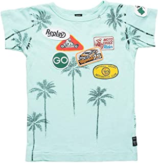 195d37a995f Replay Kids Mint T-Shirt with Print and Patches Mint T-Shirt with Print