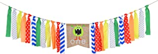 Monster Bash First Birthday Party Banner Little Monster High Chair Banner for 1st Birthday Decorations Party Supplies