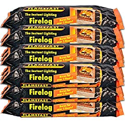 FLAMEFAST INSTANT-LIGHT SMOKELESS FIRE LOG BURNS FOR 2-3 HOURS (CASE 12) Pack of 12 Easy to use and clean to handle Environmentally friendly