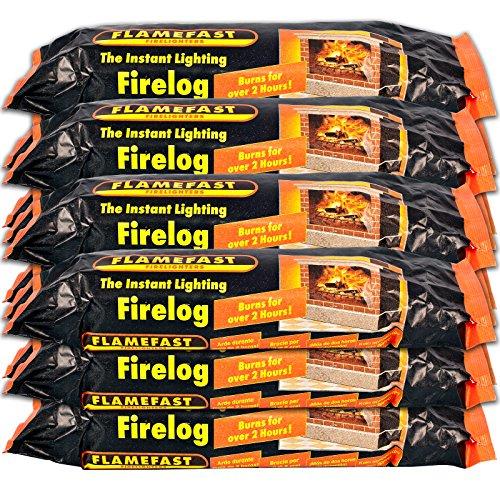 MDL Instant Light Smokeless Fire Logs - Case of 12 Logs