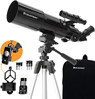 Celestron 22030 Travel Scope 80 Portable Telescope with Smartphone Adapter and Backpack,Black